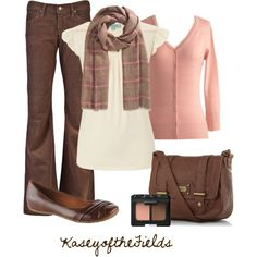 """""""Pink and Brown"""" by kaseyofthefields on Polyvore"""