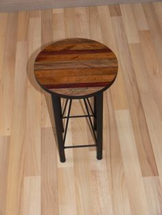 Side Table I made this from steel pipe, steel rod, and left over timber. Finished in Matt Black and Bee's Wax.