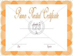 Tattoo Certificate Templates