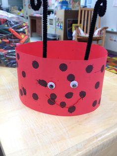 Ladybug Hat craft for children. #kidscraft #preschool #animalcraft