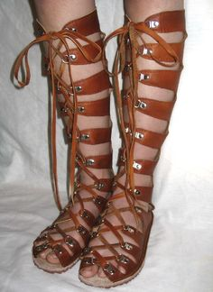 Leather Gladiator Sandals,    http://www.etsy.com/listing/47588177/leather-gladiator-sandals-renaissance