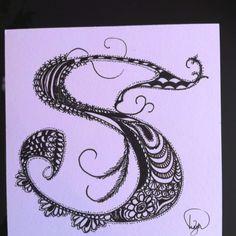 Zentangled letter S