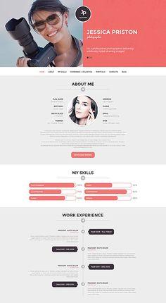 Photographer CV #WordPressThemes wordpress website template