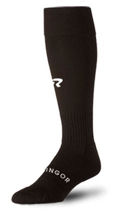 Ringor Black Softball Socks Diamond Fit Arch/Ankle Compression. RingorBlackSock