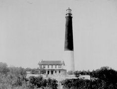 Pensacola Lighthouse and Keeper's Quarters in Escambia County, Florida.