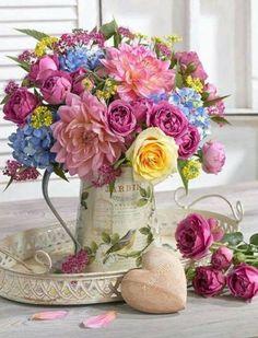 Flowers Gift Bouquet Floral Arrangements Beautiful Ideas For 2019 Fresh Flowers, Colorful Flowers, Beautiful Flowers, Spring Flowers, Beautiful Flower Arrangements, Floral Arrangements, Spring Flower Arrangements, Deco Floral, Floral Design