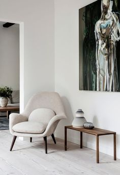 Tour the Sophisticated and Serene Home of a Danish Design Brand's CEO - Nordic Design Danish Interior Design, Danish Design, Scandinavian Interior, Design Furniture, Plywood Furniture, Danish Furniture, Modern Furniture, Casa Milano, Decoration Design