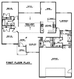Colonial Cottage Country Craftsman Ranch Traditional House Plan 50606 Level One