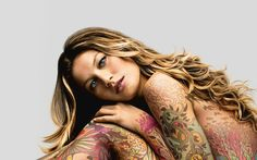 40 Awesome Full Body Tattoos for Women 36 Tattoo Girls, Girl Tattoos, Tattoos For Women, Full Body Tattoo, Body Tattoos, Girl Body, Beautiful Tattoos, Beautiful Body, Beautiful Stories