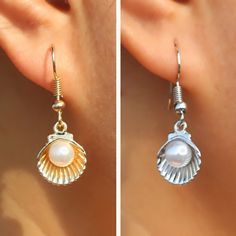 Shells with pearls. Beautiful!