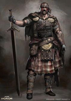 ArtStation - For Honor - Highlander character concept, Guillaume Menuel