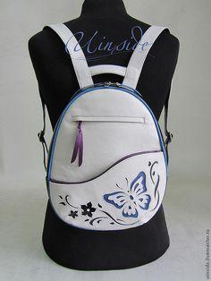 """Купить Рюкзак женский """"Лето"""" - рисунок, рюкзак, рюкзак кожаный, рюкзак из кожи, рюкзачок"""