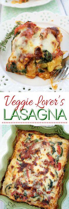 Veggie Lover's Lasagna #lasagna #recipe #cooking #vegetarian #meatless #meatlessmondays