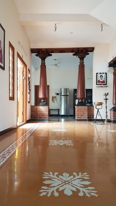 Decor Centre for Vernacular Architecture Trust :: Gallery Tips for Parents: Starting The School Year Indian Home Design, Indian Home Interior, Indian Interiors, Kerala House Design, Home Tiles Design, Home Room Design, Floor Design, Home Interior Design, Interior Designing
