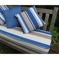 Outdoor Bench Cushions Make Your Porch And Backyard More Charming Outdoor Seat Cushions, Bench Cushions, Home Furniture, Furniture Design, Backyard, Patio, Outdoor Living, Throw Pillows, Bed