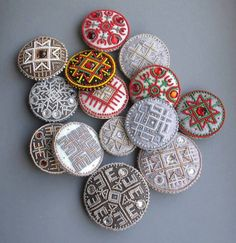 more brooches with Latvian ornaments