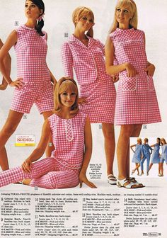 Colleen Corby (in the left) and others models (unknown to me), modeling for american Sears catalog, 1960s.