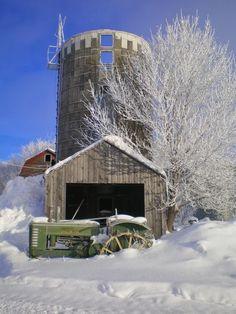 Barn, Silo & John Deere Tractor