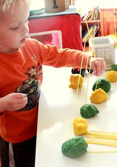 play dough noodle activity