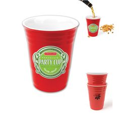 It's a ceramic version of the Red Solo Cup.  Party on!