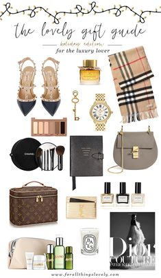 the perfect holiday gift guide for the luxury lover in your life! Via For All Things Lovely Luxury Christmas Gifts, Christmas Gifts For Her, Birthday Gifts For Her, Birthday Presents, 18th Birthday Gifts For Girls, 20th Birthday, Teen Birthday, Christmas Wishes, Christmas Holidays