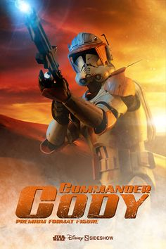 Clone Commander Cody joins Sideshow's Star Wars Premium Format Figure line, a high quality statue of The 212th Ghost Company leader from Star Wars: The Clone Wars