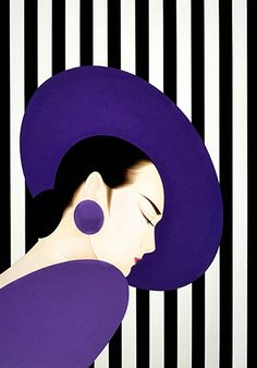 Art: Japanese beauty in Art Déco style by artist Ichiro Tsuruta Estilo Art Deco, Art Deco Stil, Beauty In Art, Art Japonais, Arte Pop, Fine Art, Japan Art, Japanese Artists, Art And Illustration