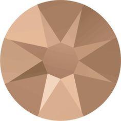 144 Pieces - Swarovski Rhinestone 2088 XIRIUS Rose NO-HOTFIX Flat Back - Crystal Rose Gold