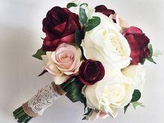 45 Best Ideas for wedding bouquets boho style Wedding Pins, Wedding Art, Wedding Details, Dream Wedding, Dusty Rose Wedding, Burgundy Wedding, Bridal Brooch Bouquet, Boquet, Best Wedding Colors