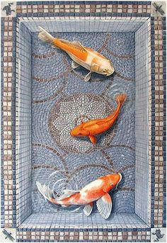 Trompe-l'œil Floor Cloth by Carol Pascale