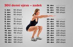 30 denní výzvy - Life by Tess♥ - Hryprodivky. Yoga Fitness, Health Fitness, Pilates, Cleanse, Something To Do, Detox, Fitness Motivation, Workout, How To Plan