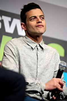 Rami Malek speaks onstage at Coding on Camera: MR. ROBOT & Authenticity on TV during the 2016 SXSW Music, Film + Interactive Festival at the Austin Convention Center in Austin, Texas on March 13, 2016.