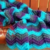 Beehive Ripple Crochet Blanket