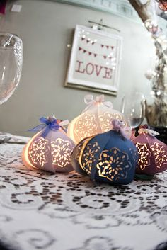 Trend No. 3 Paper Lanterns with a touch of Trend No. 5 Laser Cuts