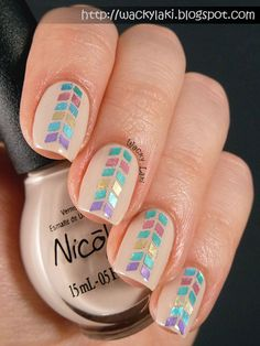 Nicole by OPI Be Awesome Glitter Placement - Wacky Laki