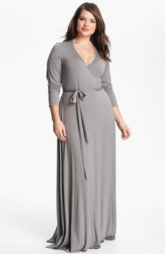 Rachel Pally Long Wrap Dress (Plus size) available at Nordstrom Plus Size Dresses, Plus Size Outfits, Cute Dresses, Beautiful Dresses, Cute Outfits, Maxi Dresses, Curvy Girl Fashion, Plus Size Fashion, Womens Fashion