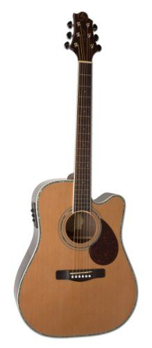 Samick Greg Bennett Design D8CE N Acoustic Guitar, Natural