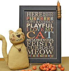 """Here Kitty Kitty"" Print - Kruenpeeper Creek Country Gifts"