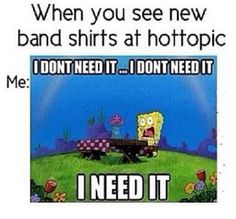 Bands, hot topic, I need it!