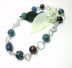 Håndlaget smykke i sølv med keramikk perler Perler, Handmade Silver, Silver Jewelry, Drop Earrings, Bracelets, Silver Jewellery, Drop Earring, Bracelet, Bangles