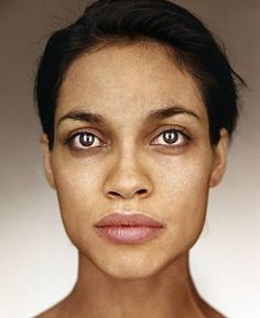 Rosaria Dawson   by Martin Schoeller true natural beauty!