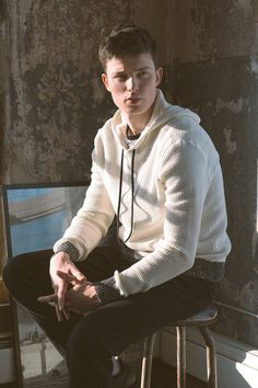CPO Waffle Pullover Hoodie Sweater ivory