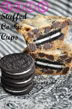 Oreo Stuffed Cookie Cups