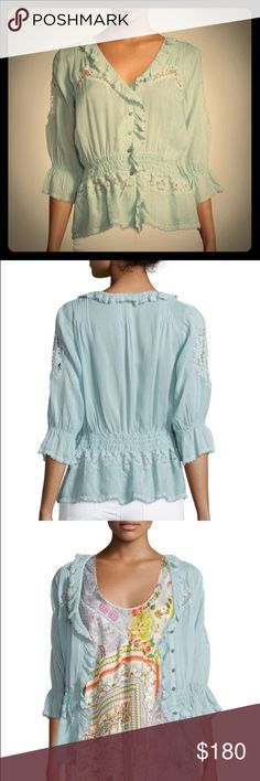 Johnny Was Seafoam Lace Cardigan NWT 1X ABSOLUTELY GORGEOUS Cardigan in the most beautiful seafoam green color. I CANNOT describe in words how beautiful this is in person!! Brand new, size 1x. Johnny Was Sweaters Cardigans