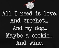 No wine.  Coffee for me. And I love dogs but don't need one. I just need my boy... and the cookie!!!!!