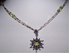 peridot star w sterling silver