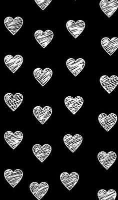 Black And White Hearts Wallpaper
