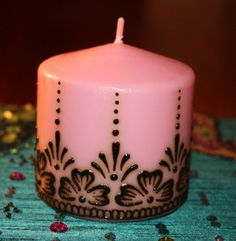 pink Henna Candle