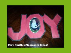 Christmas Joy Picture Ornament #freebie for you to use in your classroom, home school or Sunday School class. Directions are included in the download. #Christmas