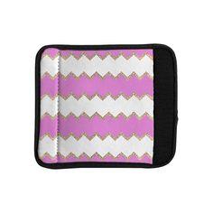 Kess InHouse Monika Strigel 'Avalon Pink ' Rose White Luggage Handle Wrap